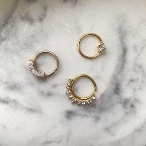 *3* Septum / Daith Earrings by Spirit Adornments